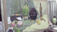 中央美院 北京庞飞画室 水粉静物 色彩静物 范画 教学视频