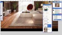 室内设计表现 丝质毛绒地毯的制作 PS效果图后期制作