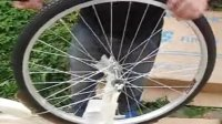 蓝岛樱花款自行车 淑女车复古通勤车24寸26寸 女式自行车带车篮