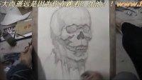 郑州画室同盟美院画室素描头骨分面范画(纸笔技法大关系)