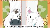 野兔和小马 英语故事 儿童课件 FLASH制作  教育宣传片制作