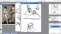 人体系列之《体块关系1》手绘板基础绘画教程
