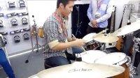 2013广州乐展DZ-鼓手地带实木拼接套鼓试玩