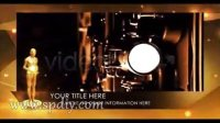 小金人盛大颁奖典礼中的视频图片AE展示模板(含音频)
