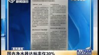 新闻晨报:国内净水器达标率仅30%[上海早晨]