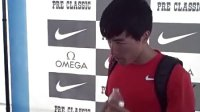 Liu Xiang After His 13.00 Runner-Up to David Olive