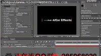 影视、AE 基础教学视屏AE教程案例 运动光条文字_(new)