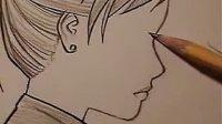 日本动漫漫画技法教程视频-如何画漫画中的脸(三种不同的方法)