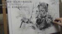 祝凯素描--不同的幸福 通过照片绘画方法 素描 炭笔木炭条结合