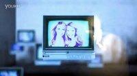 3D立体空间里的电视展示AE模板