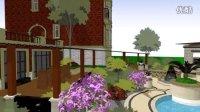 高端定制别墅花园景观设计360°全景效果视频展示(三)