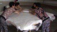 蚕之恋家纺为辽宁省沈阳市叶碧如小姐做的手工蚕丝被1.5+3.5