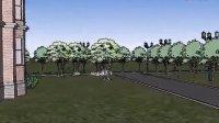 草图大师别墅景观设计