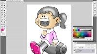 [PS]Photoshop新手教程,ps教程, 实战—用油漆桶为卡通人填色