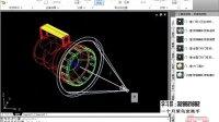 cad视频教程 autocad CAD模型插座二维三维及手提灯渲染03