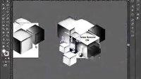 [Ai]视频  AI教程 illustrator CS6 AI实例教程海报设计篇黑白立体空间效果
