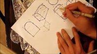 产品设计手绘系列基础教学视频——半弧形画法1