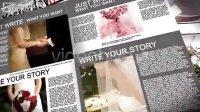 报纸婚礼 AE模板