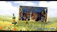 卡通风格的儿童视频相册AE模板(含音频)