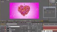 AE视频教程 AE模板 AE教程 会声会影爱心粒子系