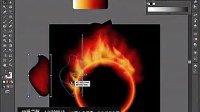 AI视频教程_AI实例教程_插画篇_燃烧的火球  标清