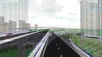 鸿业路立得3.0三维互通立交桥梁效果展示