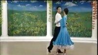 杨艺教你跳探戈09世纪舞步  双手背拉  背翻三连步