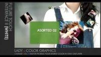 a模拟点击屏幕的创意企业广告介绍宣传AE模板
