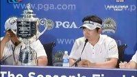 0817 PGA锦标赛老虎伍兹饮恨 韩国黑马梁容银夺亚洲人第一冠