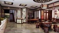 苏州王总红木家具展厅中式装修—东方神韵中式设计机构