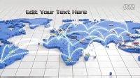 VideoHive 1213 超炫的世界网络连线AE模板