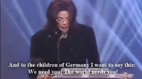 """迈克尔 杰克逊 2002年德国Bambi Awards 获得""""千禧艺人奖"""""""