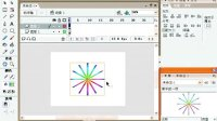 【FLASH教程】第二十八课 七彩旋转图制作【视频教程】