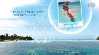 VideoHive 1134 夏天暑假泡泡图片展示AE模板