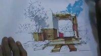 庐山手绘艺术特训营  手绘教程 陈红卫-马克笔景观表现