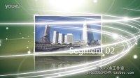 AE022 绿色炫光模板
