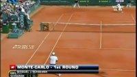 ATP蒙特卡罗红土赛第1轮4场赛况 柳比西奇晋级