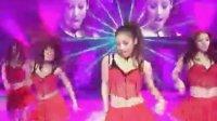 韩国美女  李孝利 VS RAIN 现场红服热舞