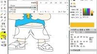 Flash实例视频08画卡通男孩02上色