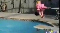 搞笑跳水视频