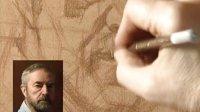 粉蜡笔人物肖像绘画