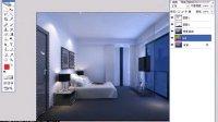 卧室后期--室内设计中级高级视频自学室内设计效果图教程3D