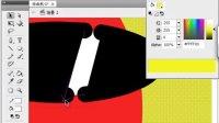 flash基本工具-03圆形工具-椭圆工具.打组.线条和填充.太极图.写轮眼