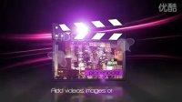 031 紫色光束 公司片头 企业宣传 AE工程模板