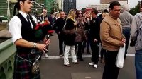 伦敦,塔桥,街头艺人,苏格兰风笛