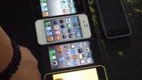 有史以来8台iPhone集合。可惜一代坏了,没点亮。