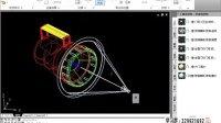 cad cad教程 cad视频教程CAD模型插座二维三维及手提灯渲染03