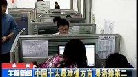 中国十大最难懂方言 粤语排第二
