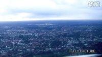 驾驶舱实录 波音客机 目视进近 降落德国汉堡国际机场33号备用跑道!