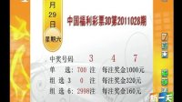 1月29日中国福利彩票3D:第2011028期开奖号码 3 4 7 [新一天]